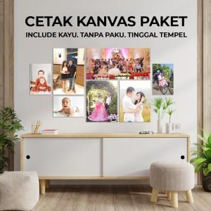 Harga cetak foto kanvas canvas print paket hemat 140 | HARGALOKA.COM