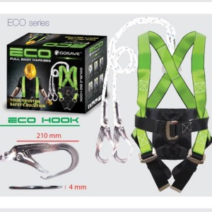 Harga full body harness safety belt eco double big hook   HARGALOKA.COM