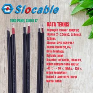 Harga kabel panel surya 2x6mm kabel solar panel 2x6mm | HARGALOKA.COM