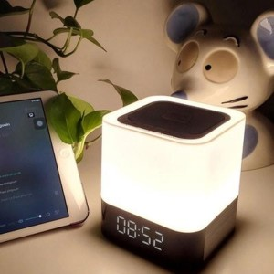 Harga taffware jam alarm bluetooth speaker colorful led light   white | HARGALOKA.COM