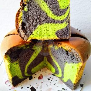 Harga kue chiffon rasa pandan ketan hitam kopi biscoff kenari coklat ke   | HARGALOKA.COM