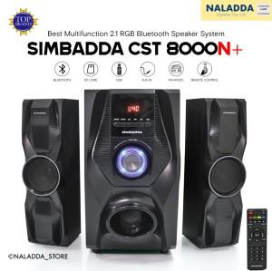 Harga simbadda cst 8000n 2 1 super bass speaker aktif bluetooth fm   HARGALOKA.COM