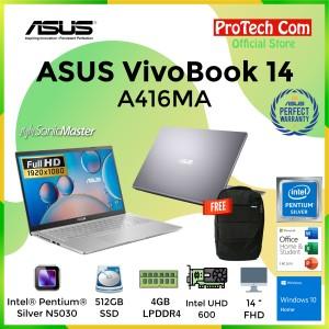 Harga asus vivobook a416ma pentium n5030 4gb 512gb intel hd 14 34 fhd ohs | HARGALOKA.COM