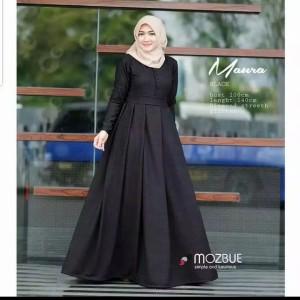Harga baju muslim wanita pakaian muslim remaja muslim gamis   marura black | HARGALOKA.COM