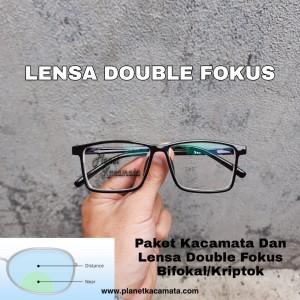Harga kacamata baca double fokus buat jalan dan baca lensa | HARGALOKA.COM