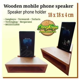 Harga speaker phone holder wooden bkn speaker bluetooth phone | HARGALOKA.COM