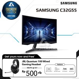 Harga monitor led samsung odyssey g5 lc32g55 c32g55 32 34 1440p 144hz hdmi | HARGALOKA.COM