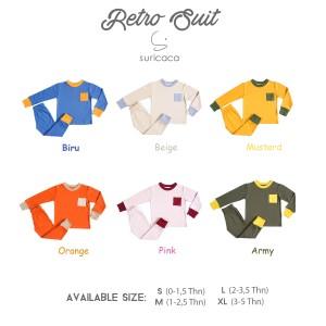 Harga suricaca setelan baju anak kaos bayi celana panjang   retro series 4c   hijau | HARGALOKA.COM