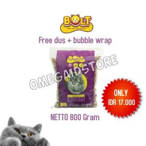 Harga makanan kucing bolt 800gr repack rasa tuna bentuk kible | HARGALOKA.COM