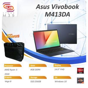 Harga laptop murah asus vivobook m413da ryzen 5 3500 ram 8gb ssd 256gb   HARGALOKA.COM