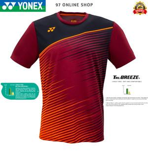 Harga kaos badminton jersey yonex 1699 coc rumba red 100 original   m     HARGALOKA.COM