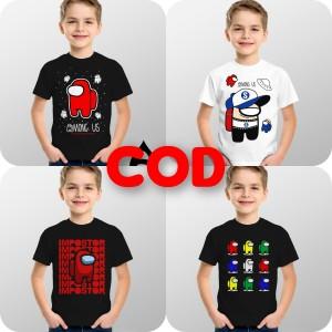 Harga baju kaos atasan anak karakter among us   impostor | HARGALOKA.COM