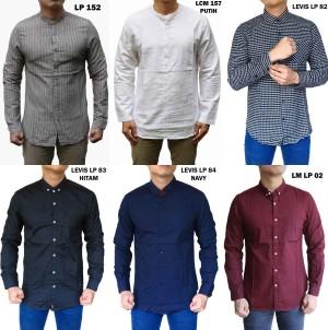 Harga kemeja pria lengan panjang atasan kerja berkerah casual formal murah   lcm 152 | HARGALOKA.COM