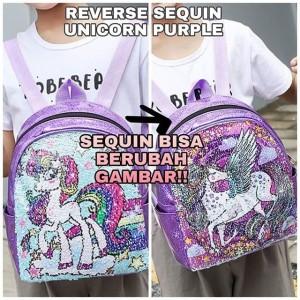 Harga tokyoberry sequin unicorn purple bag tas anak perempuan ala   HARGALOKA.COM