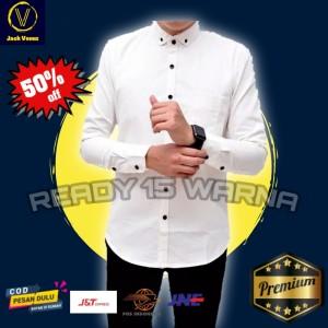 Harga kemeja polos pria lengan panjang hitam navy marun l xl baju hem cowok   panjang putih | HARGALOKA.COM
