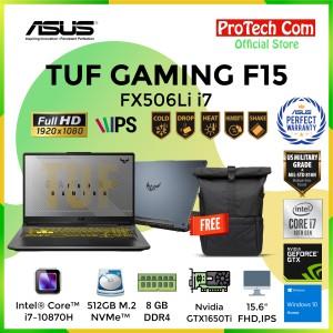 Harga asus tuf gaming f15 fx506li i7 10870h 8gb 512gb gtx1650ti 4gb | HARGALOKA.COM
