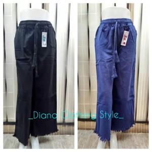 Harga celan kulot jeans wanita terbaru model rumbai   hitam all | HARGALOKA.COM