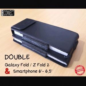 Harga sarung dompet double galaxy z fold 2 dan smartphone 6 inch   6 7 | HARGALOKA.COM