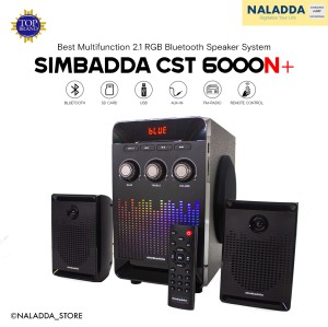 Harga simbadda cst 6000n 2 1 rgb multimedia bass bluetooth speaker | HARGALOKA.COM