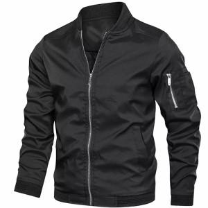 Harga jaket bomber pria jaket motor pria jaket terbaru   biru navy | HARGALOKA.COM