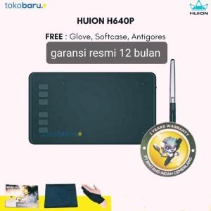 Harga new huion h640p garansi resmi pen tablet bisa di android windows mac   pake   HARGALOKA.COM