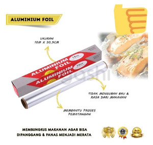 Harga aluminium foil pembungkus makanan uk 10 m x 30 | HARGALOKA.COM