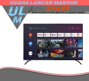 Harga sharp led 50 inch 4k ultra hdr android tv 4t c50bk1x  khusus | HARGALOKA.COM