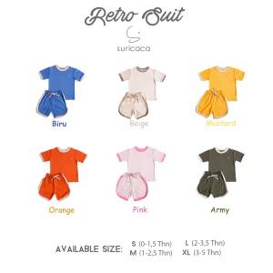 Harga suricaca setelan baju anak kaos bayi celana pendek   retro series 1a   hijau | HARGALOKA.COM