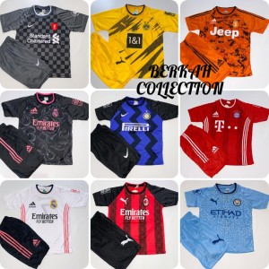 Harga bisa cod stelan baju bola anak lengkap dan termurah jersey terbaru   madrid hitam | HARGALOKA.COM