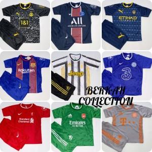 Harga bisa cod stelan baju bola anak lengkap dan termurah jersey kaos bola   city biru | HARGALOKA.COM