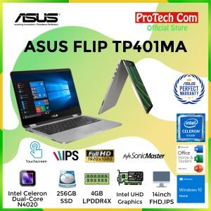 Harga laptop asus flip tp401ma dualcore n4000 4gb 256gb ssd 14 34 w10 | HARGALOKA.COM