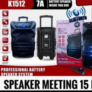 Harga speaker meeting portable bluetooth 15 inch advance | HARGALOKA.COM