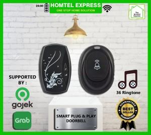 Harga bel rumah wireless taffware waterproof smarthome doorbell   hitam all | HARGALOKA.COM