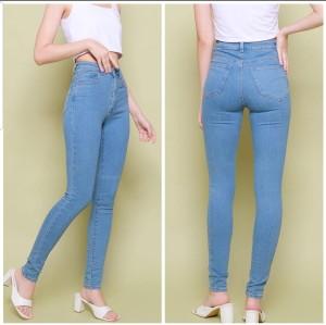 Harga celana panjang wanita highwaist jeans | HARGALOKA.COM