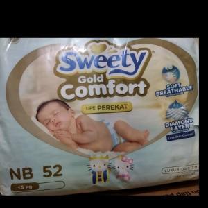 Harga popok bayi sweety gold comfort nb 52 sweety nb52 sweety perekat   HARGALOKA.COM
