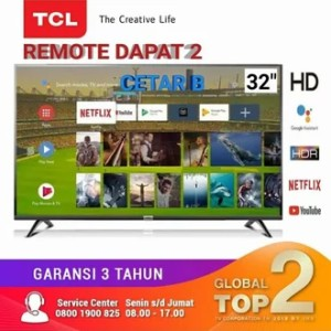 Harga 32s6800 tcl android 9 0 smart tv hdr 32inch youtube   HARGALOKA.COM