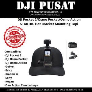 Harga hat mounting topi bracket mount dji osmo pocket 2 action gopro   HARGALOKA.COM