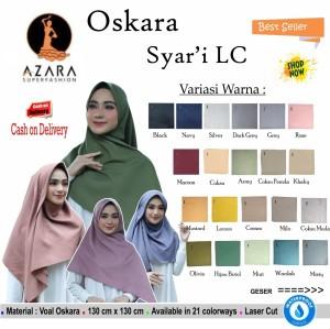 Harga jilbab segi empat oskara syari polos lc by azara scraf hijab | HARGALOKA.COM