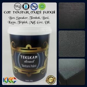 Harga 1kg   cat tekstur box speaker   tekskam charcoal | HARGALOKA.COM