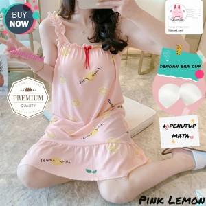 Harga baju tidur wanita import daster you can see korea model bra cup | HARGALOKA.COM