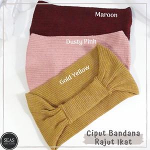 Harga ciput bandana rajut pita dalaman kerudung inner hijab   dusty | HARGALOKA.COM