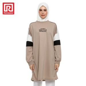 Harga ramayana   dress kombinasi l s   coklat | HARGALOKA.COM