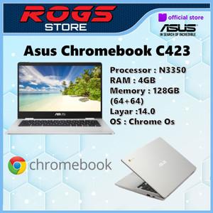 Harga asus chromebook c423 n3350 4gb 128gb 14 0   HARGALOKA.COM