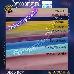 Harga katun toyobo original 100 grade a bahan baju jubah gamis | HARGALOKA.COM