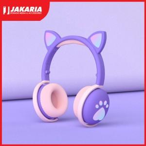 Harga headset kucing lucu gaming led fuf bluetooth head set cat ear led | HARGALOKA.COM