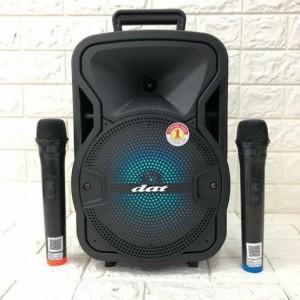 Harga speaker bluetooth portable 2 mic wireles speaker dat | HARGALOKA.COM