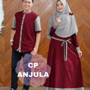 Harga baju couple pasangan baju pria gamis wanita baju couple anjula   | HARGALOKA.COM
