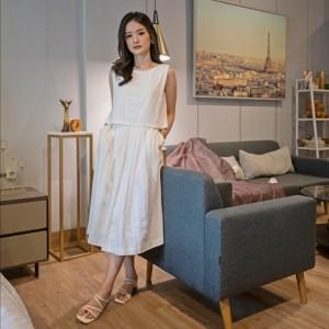 Harga dress putih linen furing evriday clothing jasmine | HARGALOKA.COM