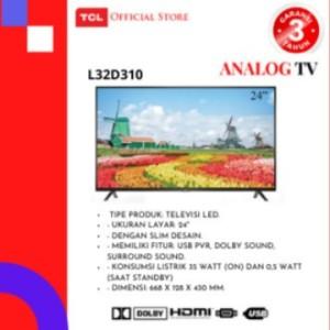 Harga tcl led tv 32inch 32d310 harga | HARGALOKA.COM