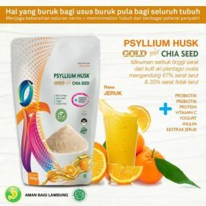 Harga minuman diet psyllium husk gold mix rasa jeruk 250gr makanan | HARGALOKA.COM